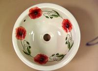 Round bowl in a poppy design