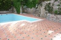 Pool area in natural Terra Cotta