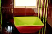 Salle de bains - Vasque à poser - Bayadère - Carrelage 20 x 20
