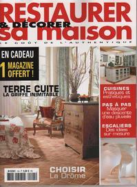 Restaurer sa Maison Juillet Aout 2010 - Revue de Presse - Décoration - Design - Architecture