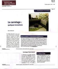 Extrait du Manuel Général de la PEINTURE et de la DECORATION octobre 2010