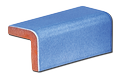 Tile - Décoration - PF0811-Outside V cap 4 x 4- Kitchen - Bathroom -enamelled-tiles-Salernes-in-Provence
