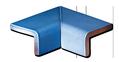 Tile - Décoration - 2 piece mitered inside corner cap-ref-1511- 4 x 4- Kitchen - Bathroom - Provencial enamelled tiles in Salernes Provence