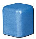 Tile - Décoration - PF1811- outside- corner- cap- 4x6 (reverted fit-)-Kitchen -Bathroom- Enamelled Tiles-Salernes-in-Provence