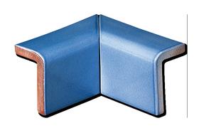 Tile d coration 2 piece mitered inside corner cap 4 x 6 for Angle rentrant carrelage mural