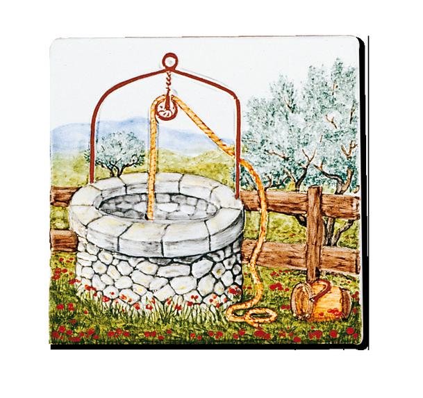 Carrelage d coration le puits fresque tableau for Carrelage fresque