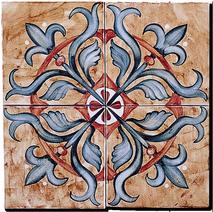 Carrelage - Décoration - Les médiévales- Fresque - Tableau - Faïence de Provence à Salernes