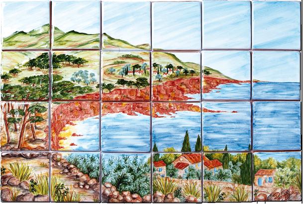 Est rel carrelage d coration fresque tableau for Carrelage fresque