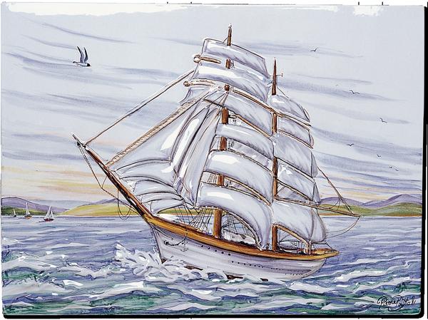 Carrelage d coration la marine fresque tableau for Carrelage fresque