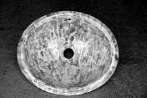 Carrelage - Décoration - Vasque Ovale 47x40 avec surverse incorporée- Cuisine - Salle de Bains - Faïence de Provence à Salernes